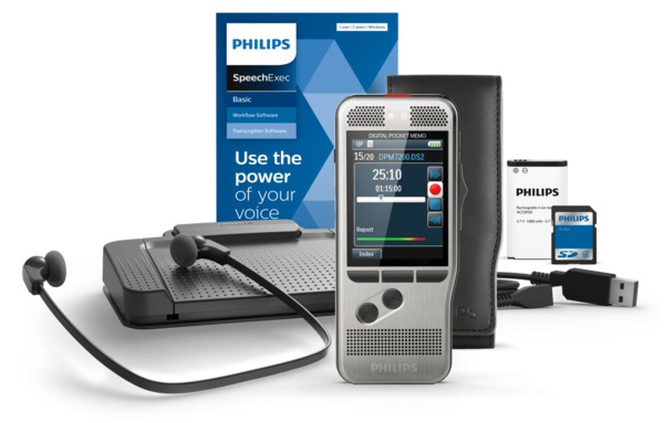 Philips DPM 7700 PocketMemo Dicteer- en transcriptieset